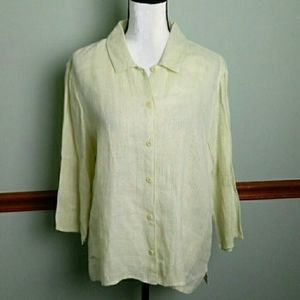 Eileen Fisher size large linen top